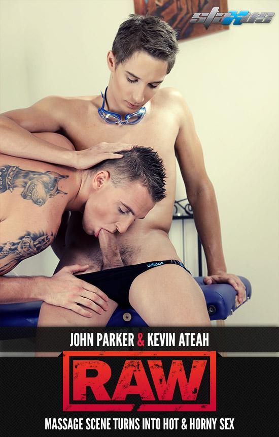 Kevin Ateah takes a visit to masseur John Parker
